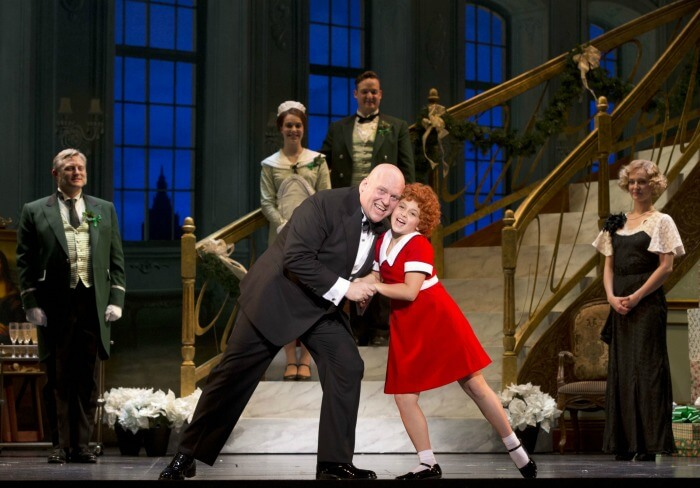 Oliver Warbucks and Annie in I Don't Need Anything But You
