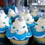 Disneyland Diamond Celebration lemon cupcake with filling