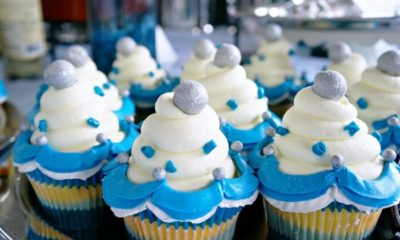 Disneyland Diamond Celebration lemon cupcake with filling