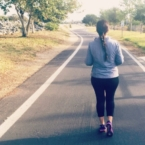 Latina mom training to run a marathon