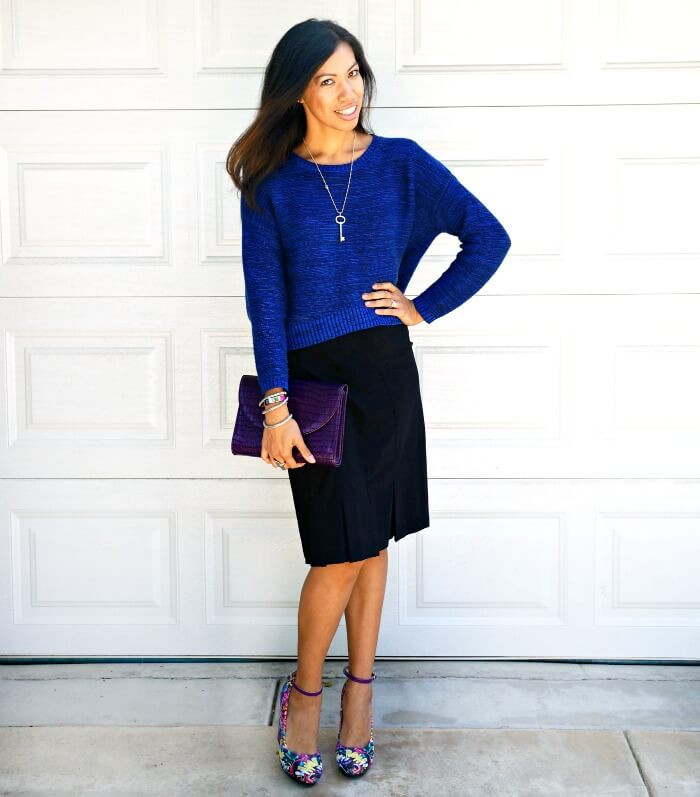 pattie cordova wearing andrea multi-colored wedges