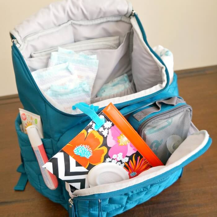 Backpack diaper bag for babies
