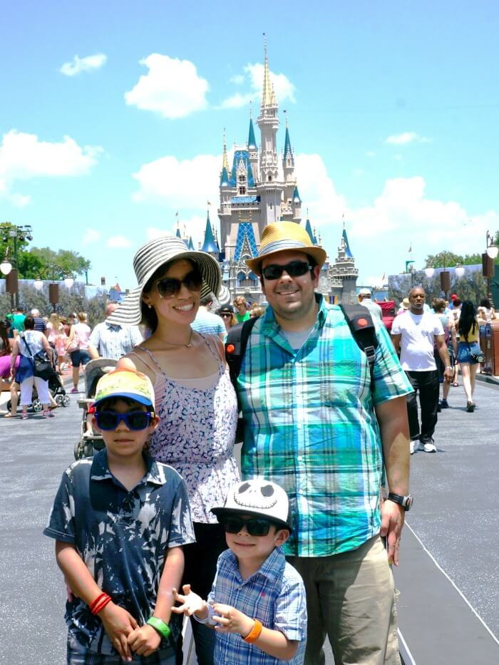 Family at Magic Kingdom at Walt Disney World