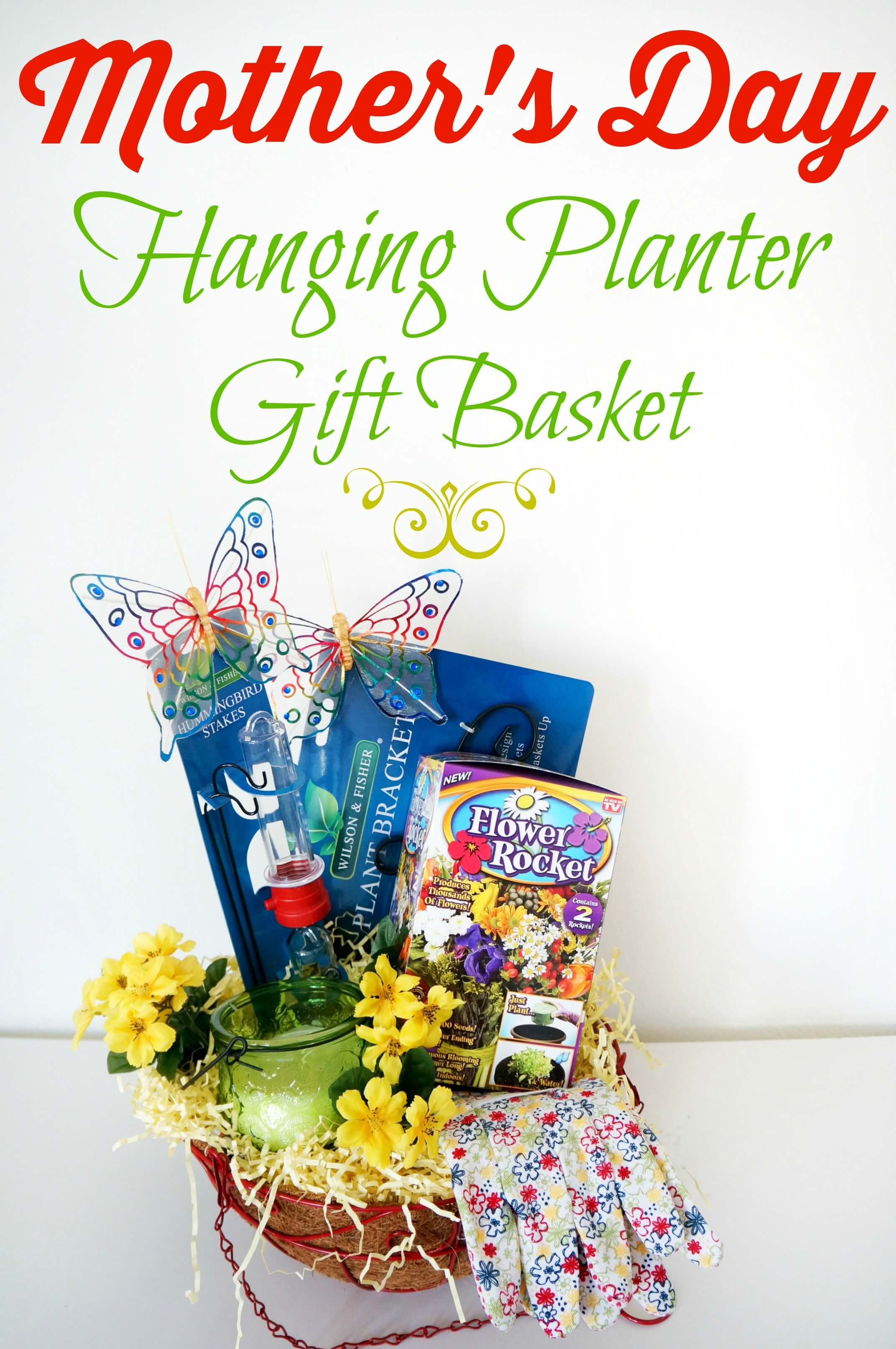 How to assemble a hanging planter gift basket on a budget
