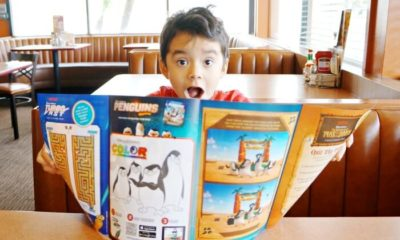 New DreamWorks kids menu at Denny's Diner