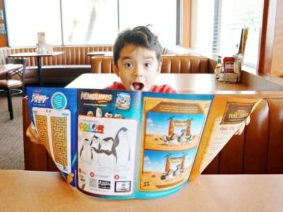 New DreamWorks kids menu at Denny's Diner