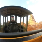 Riding the Seven Dwarfs Mine Train inside Fantasyland at Magic Kingdom