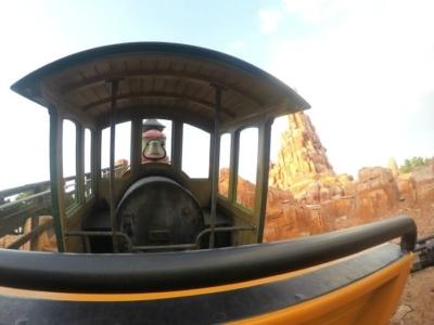 Riding the Seven Dwarfs Mine Train inside Fantasyland at Magic Kingdom