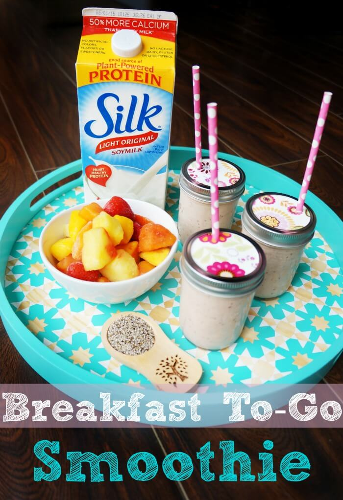 Easy breakfast to go smoothie