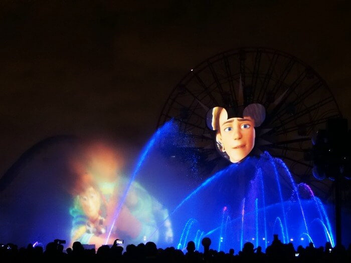 Woody and Andy at World of Color - Celebrate