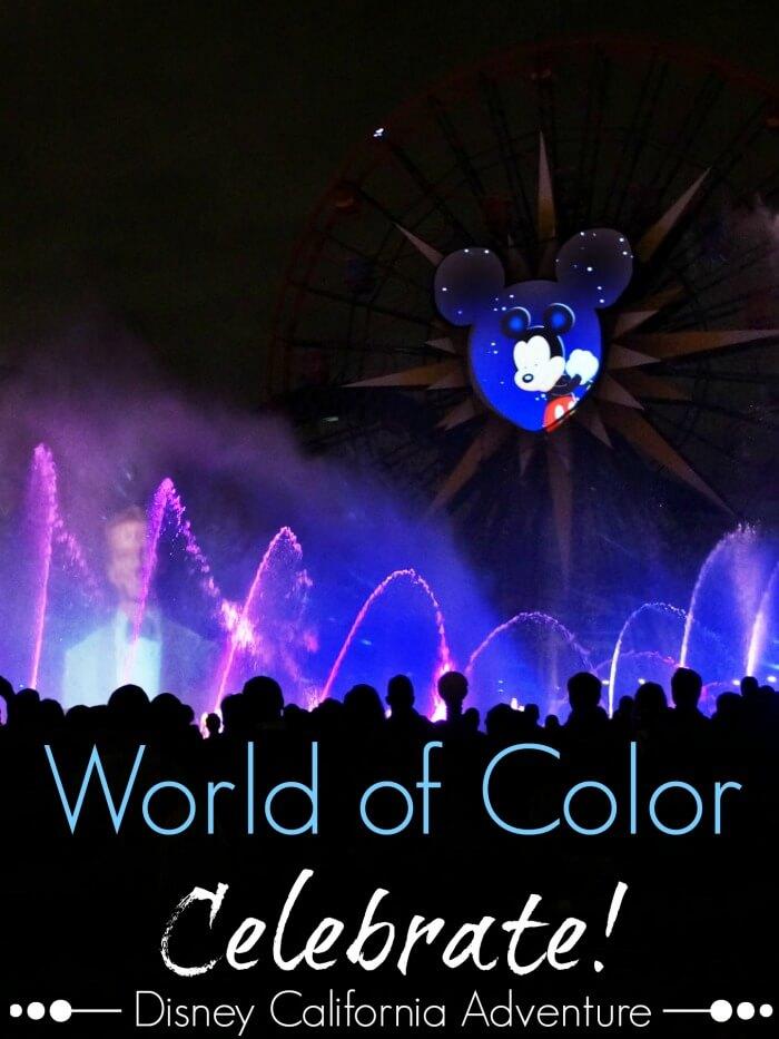 World of color celebrate at Disney California Adventure at Disneyland Resort