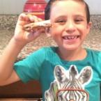 boy enjoying smores