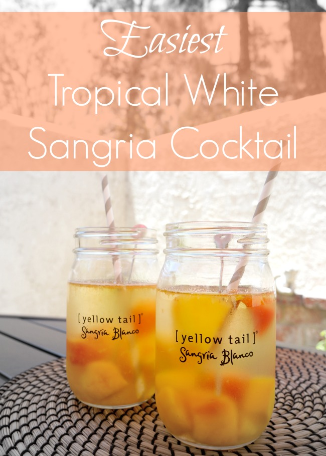 easiest tropical white sangria cocktail