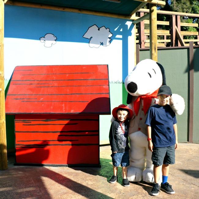 Peanuts characters meet and greet at Knott's Berry Farm