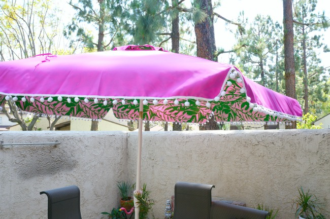 New Patio Furniture And Lilly Pulitzer Umbrella From Target