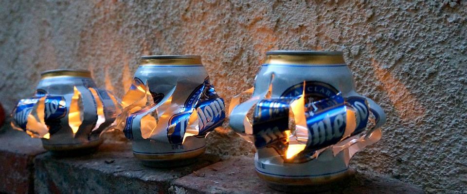 Easy Beer Can Lantern Tutorial