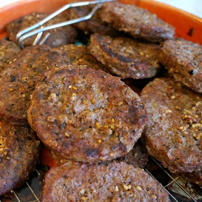 Beef hamburgers at Smart and final