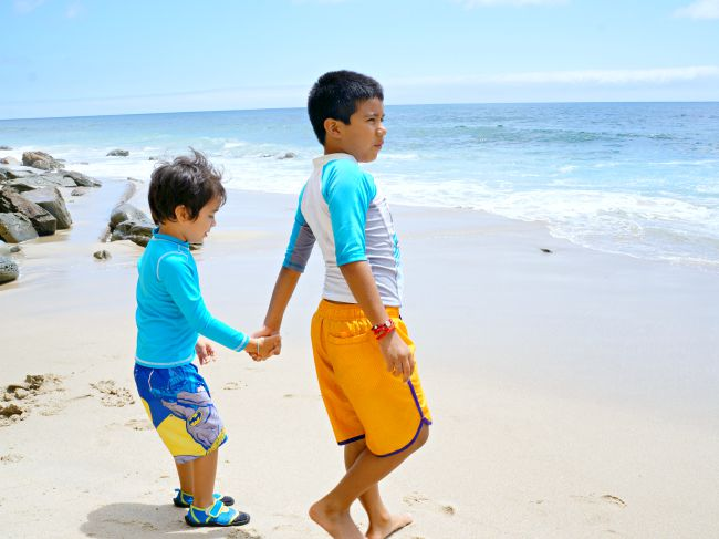 Kids playing in Laguna Beach