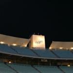 Dodgers Stadium at night