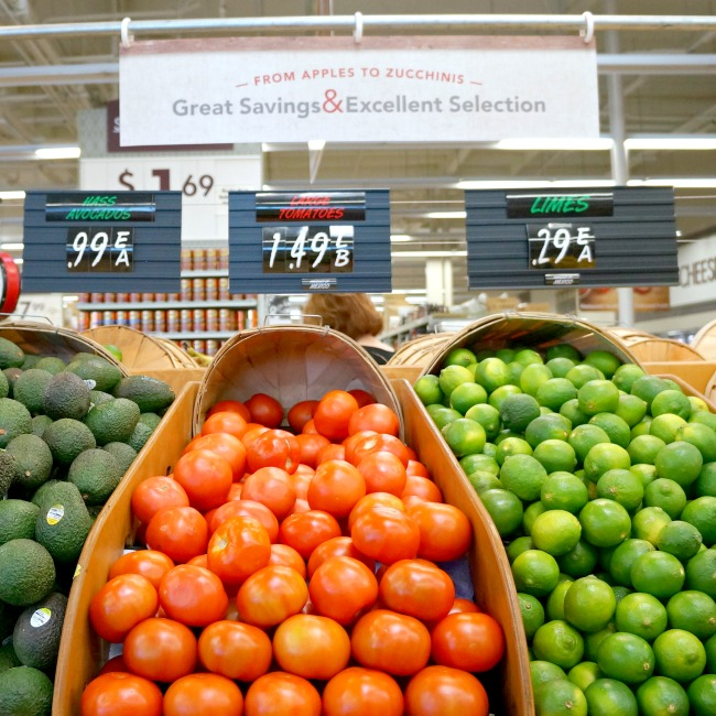 fresh vegetables at smart and final