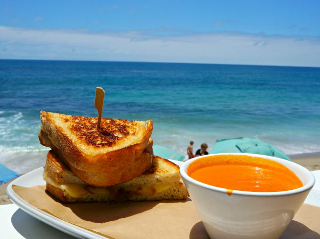 Grilled cheese in Laguna Beach