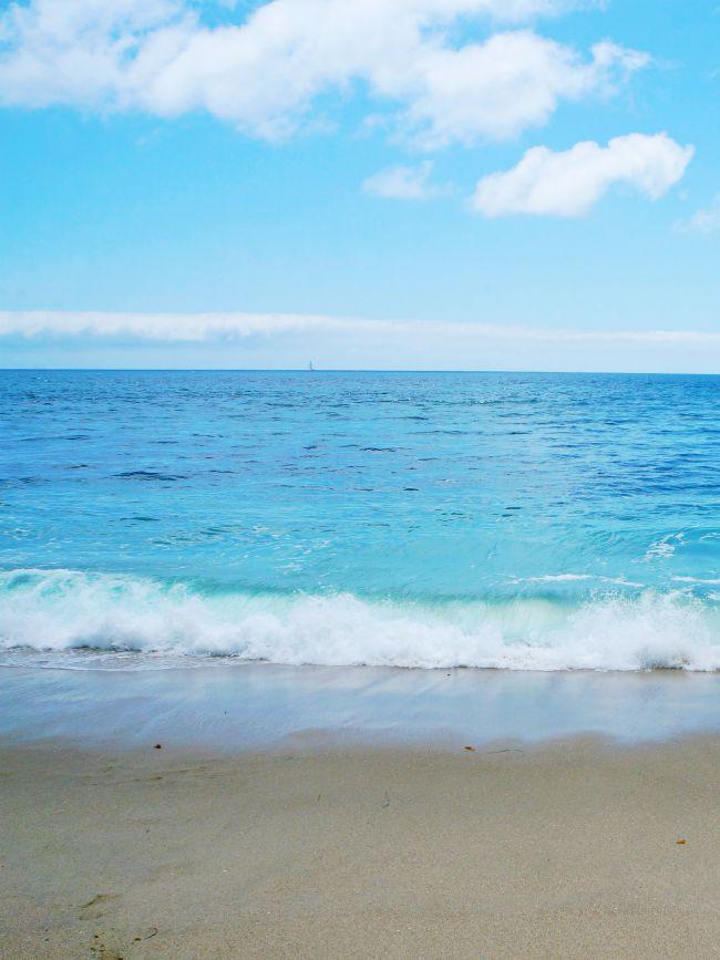Laguna Beach waves in California