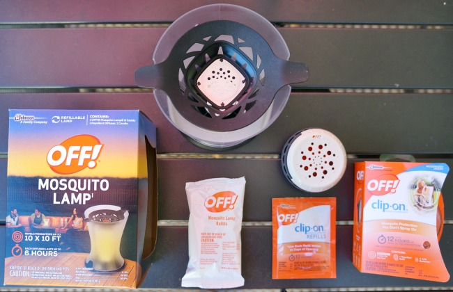 Off! Mosquito Lamp and Off! Clip-On Insect Repellant
