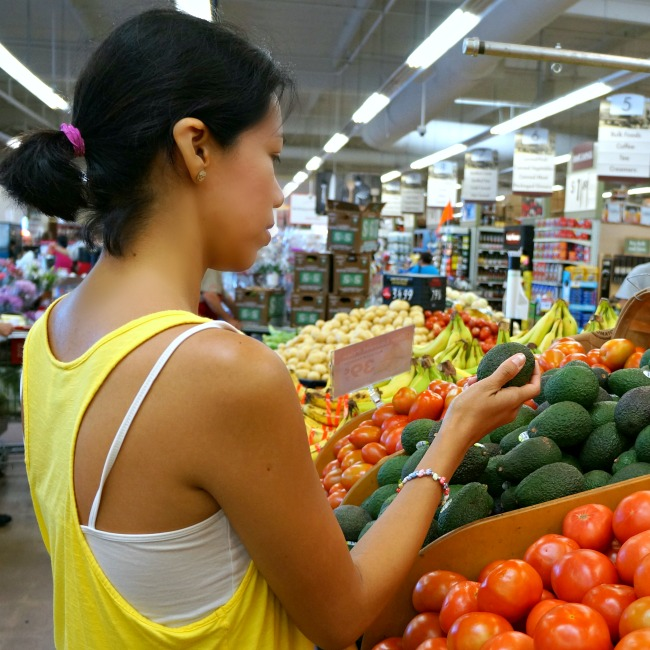 Shopping for vegetables at smart and final