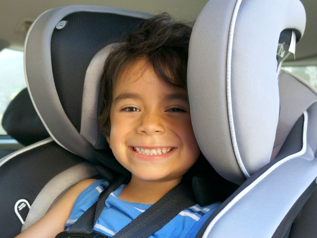 using-theEvenflo Advanced-Transitions-Booste-Car-Seat