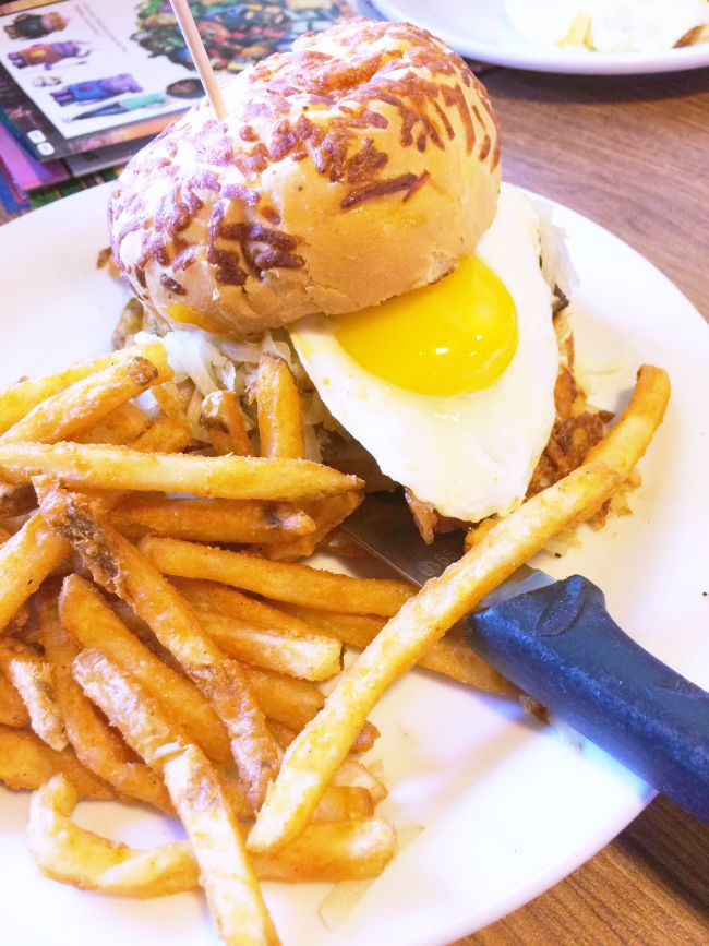 Denny's The Thing burger