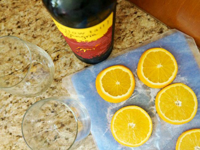 frozen oranges in sangria