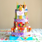 how to make school supplies cake