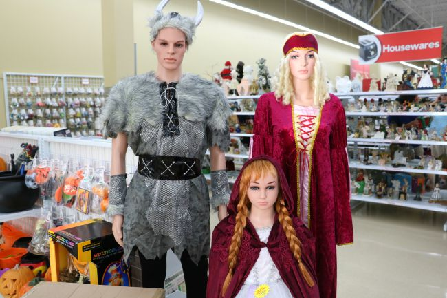 Halloween costumes at thrift store