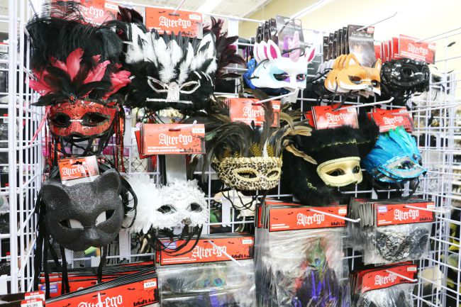 Halloween masks at Savers Thrift Store
