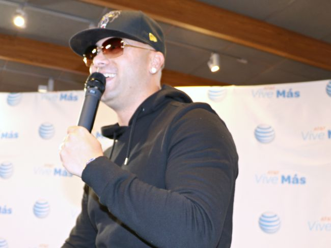 Wisin at AT&T event in Los Angeles