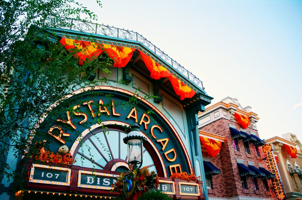 Crystal Arcade on Main Street in Disneyland