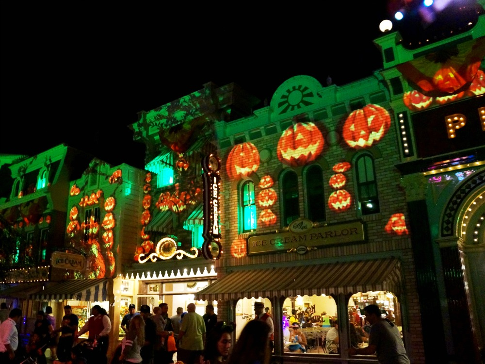 Halloween decorations on Main Street