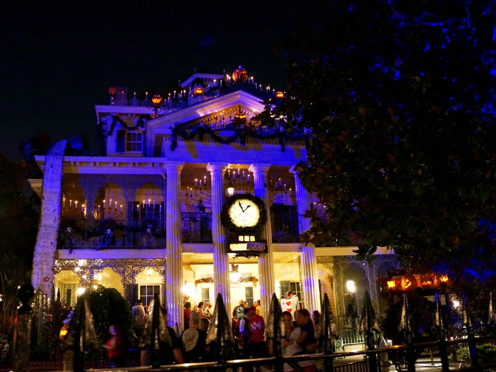 Haunted Mansion during Mickey's Halloween Time
