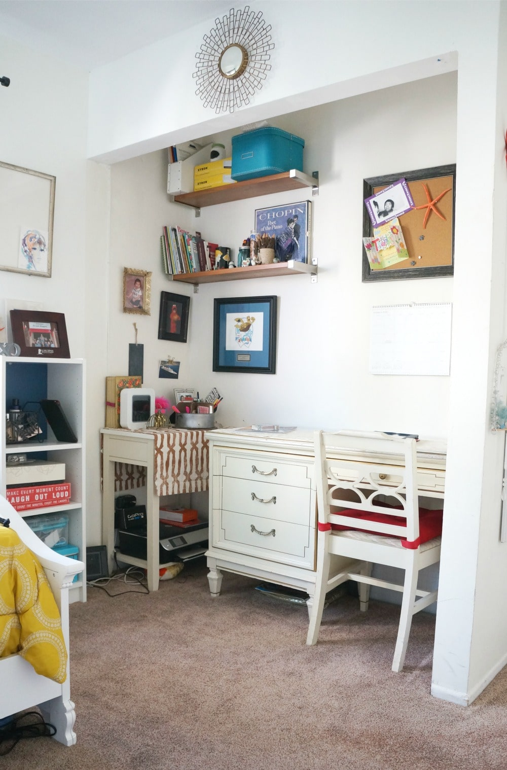 home office in closet