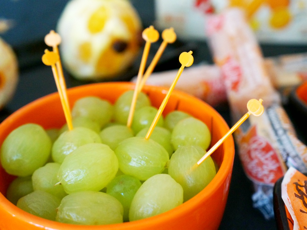 Peeled grapes for Halloween