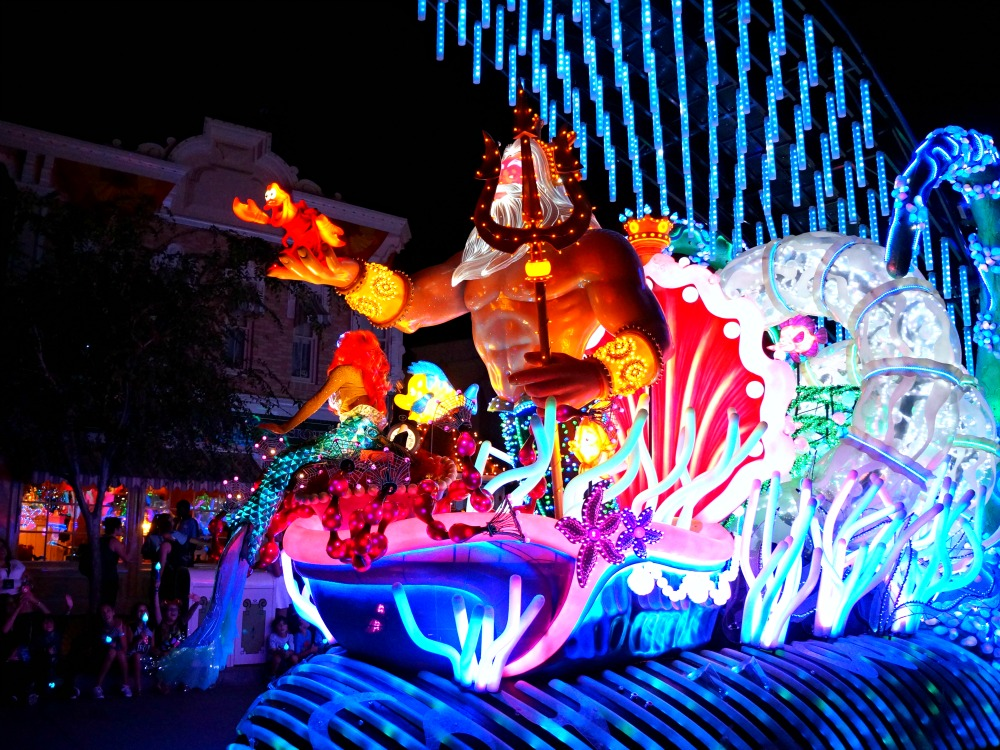 The Little Mermaid float