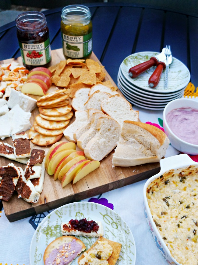 cheese platter with mexican cheese