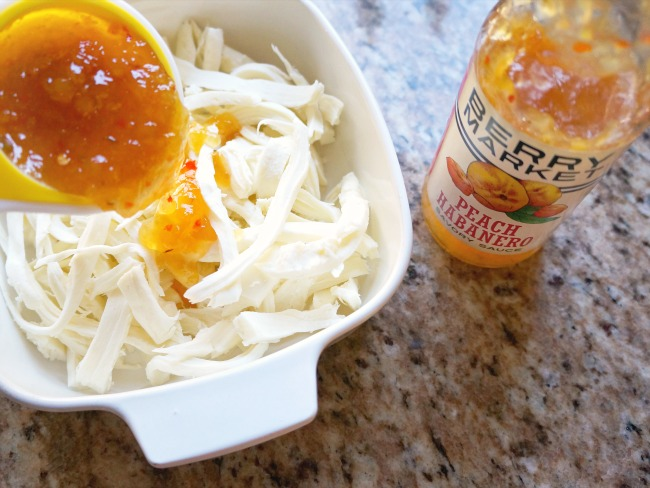 Peach habanero savory sauce