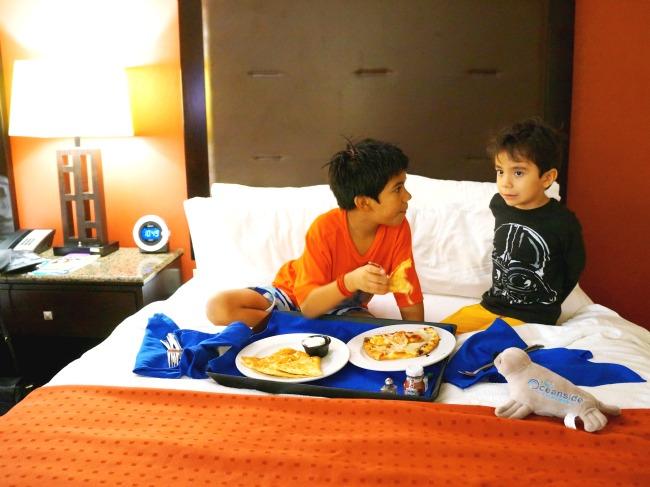 Room service at Holiday Inn Oceanside
