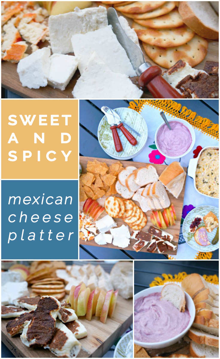 How to make a sweet and spicy Mexican cheese platter - https://livingmividaloca.com/sweet-and-spicy-mexican-cheese-platter/
