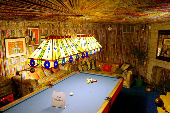 Billiard room in graceland