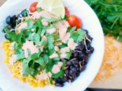 Dressing for burrito bowl salad // livingmividaloca.com