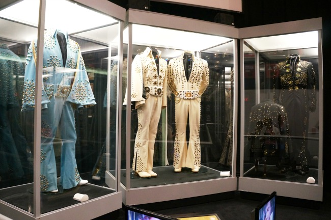 Elvis jumpsuits on display