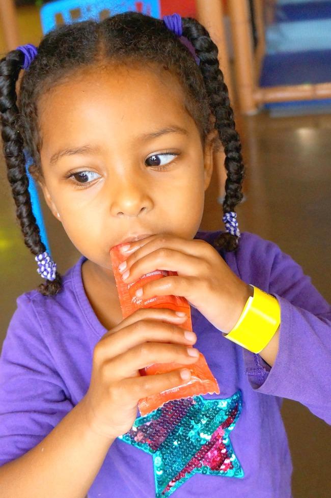 Girl having Ruby Rocket's yogurt // LivingMiVidaLoca.com