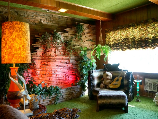 Jungle room inside Graceland